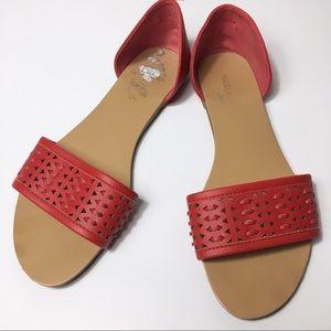 Madeline Stuart Red Slip on Flats, 10 M